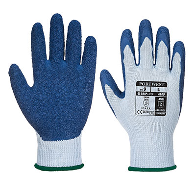 Redrok Workwear Centre Plymouth Grip Gloves - Grey/Blue