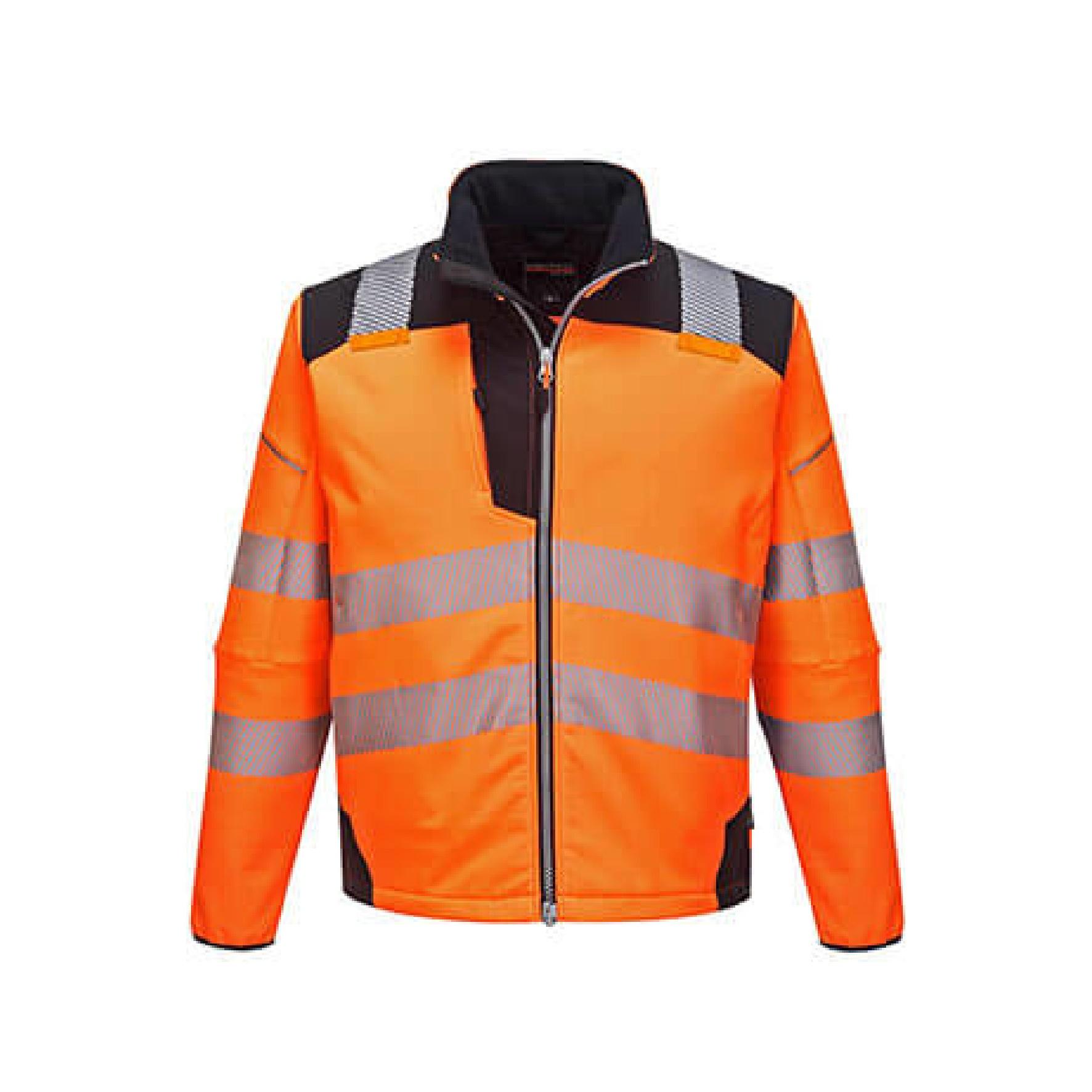 Redrok Workwear Centre Plymouth - Hi-Vis Lite Bomber Jacket - Hi-Vis Softshell Jacket - Orange/Black