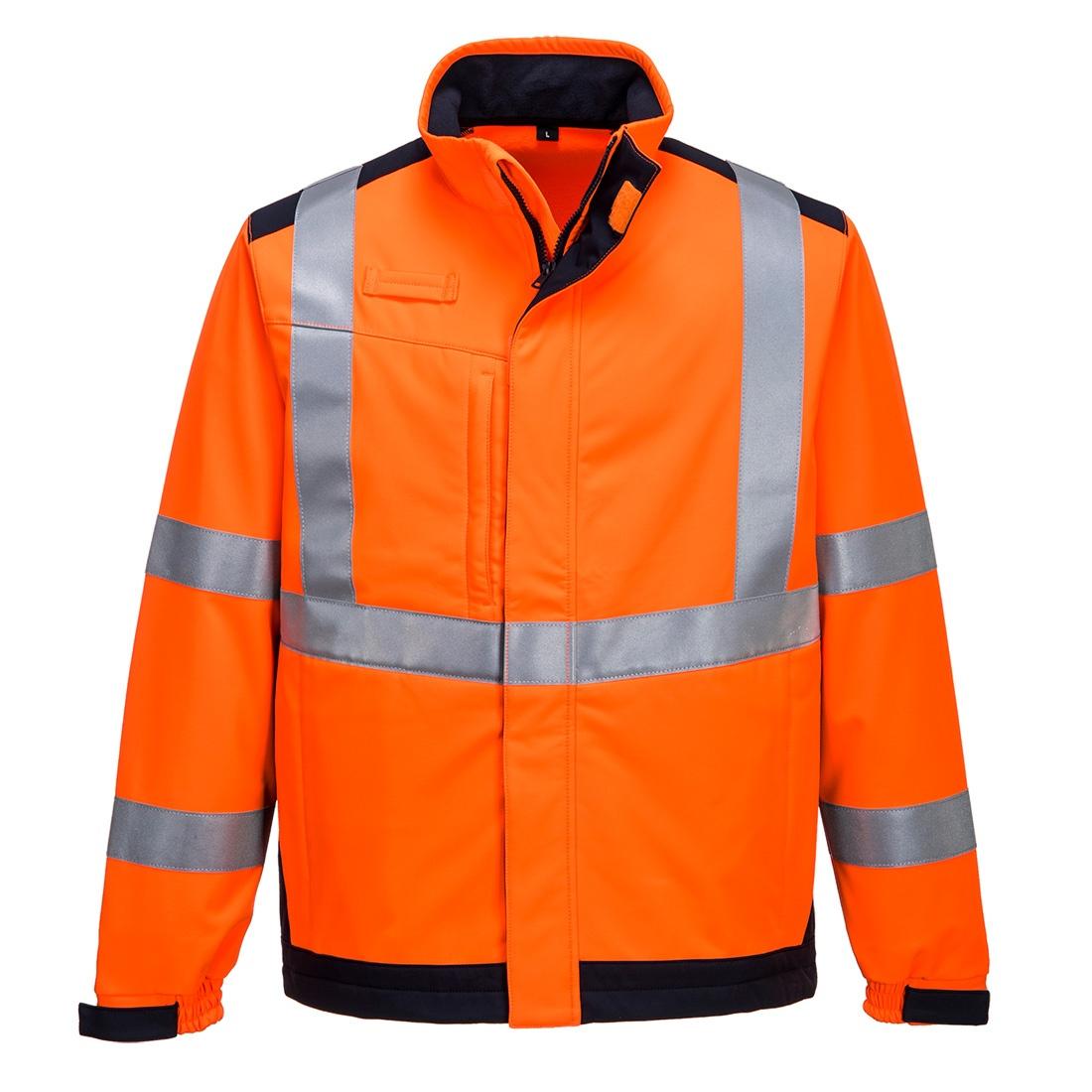 Portwest Modaflame Softshell Jacket - Orange/Navy