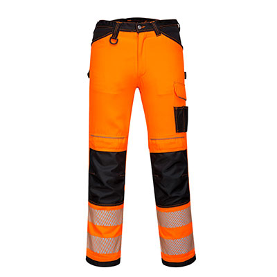 Redrok Workwear Centre Plymouth PW3 Hi-Vis Work Trousers - Orange/Black
