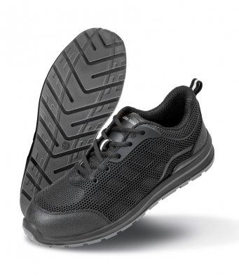 Result All-Black Safety Trainers