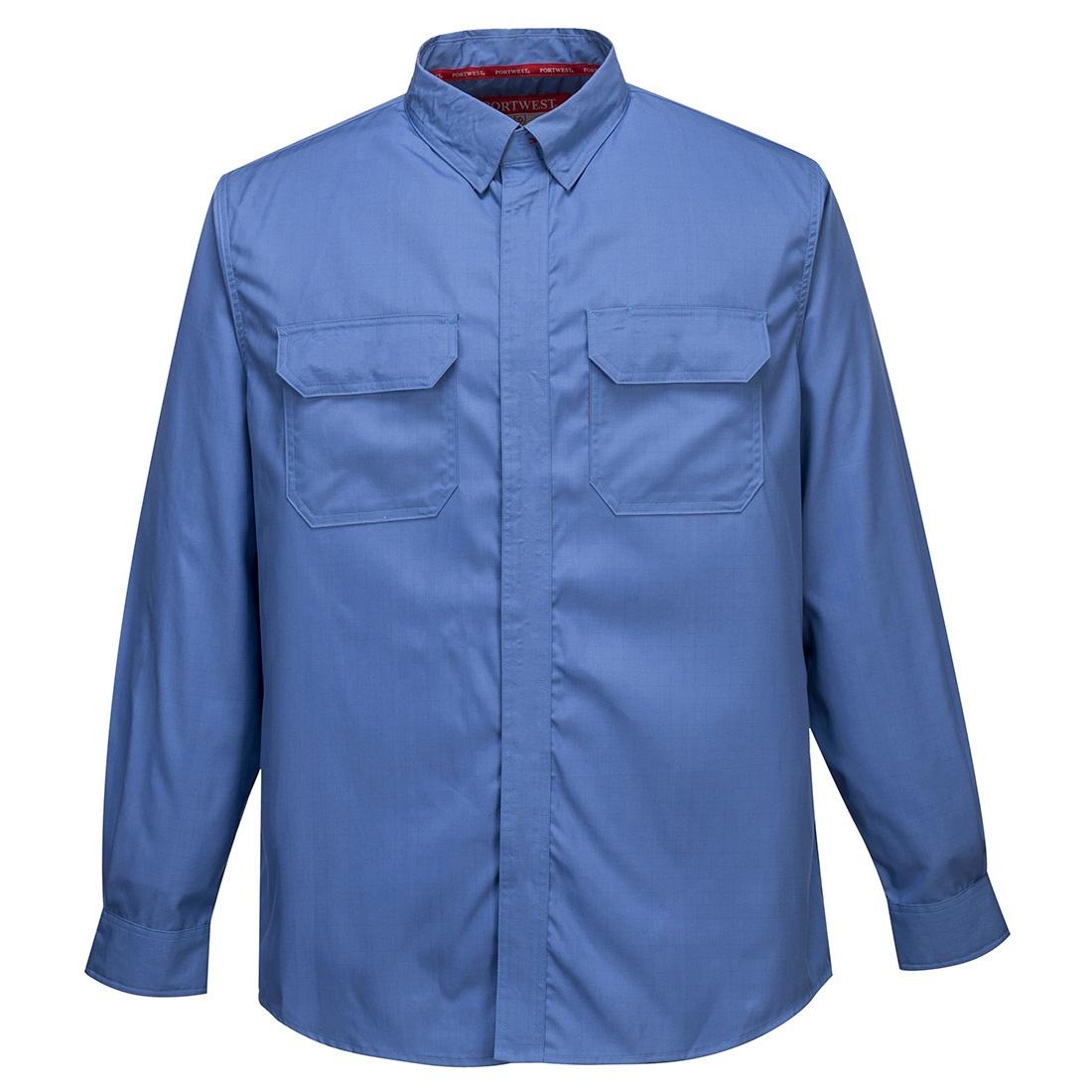 Portwest Bizflame Plus Shirt - Blue Front