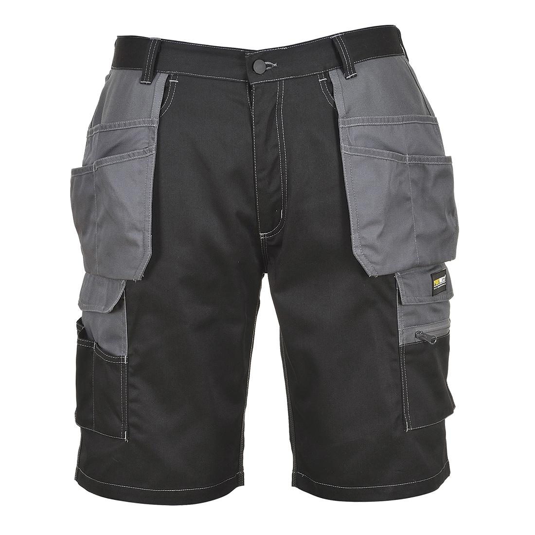 Portwest Granite Holster Shorts - Black/Zoom Grey
