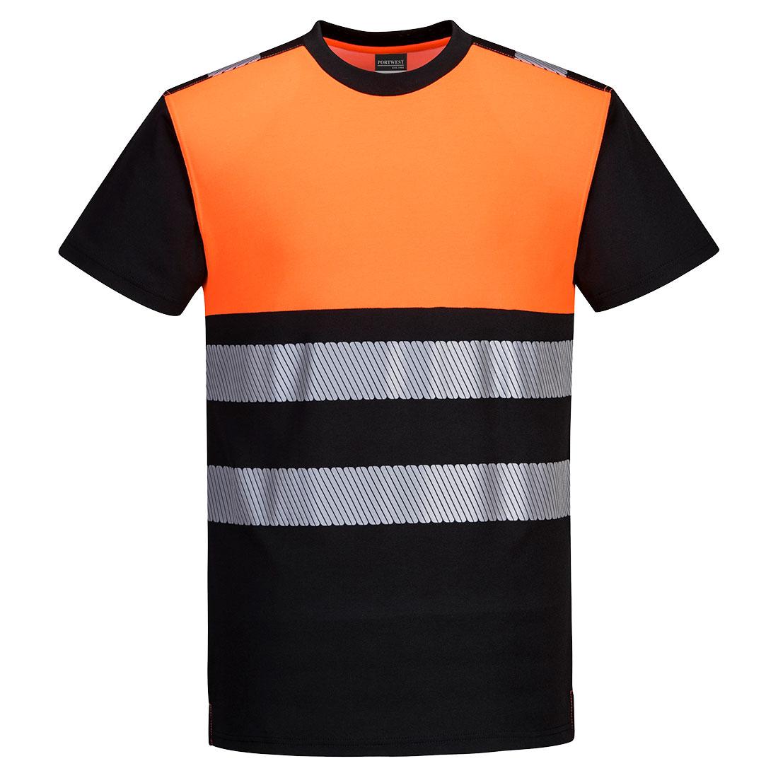 Portwest Hi-Vis T-shirt - Black/Orange