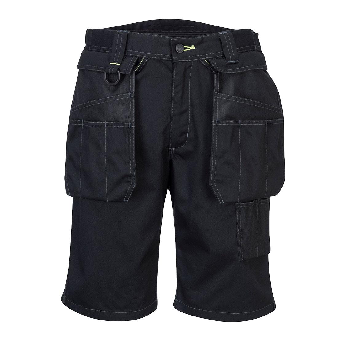 Portwest Holster Work Shorts - Black Front