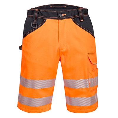 Portwest Hi-Vis Shorts - Orange/Black