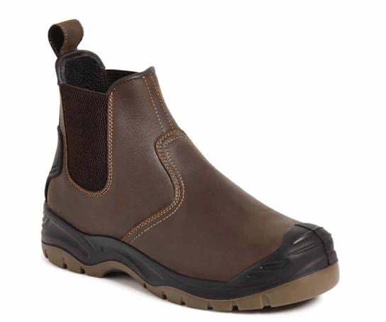 Apache Brown Safety Dealer Boot